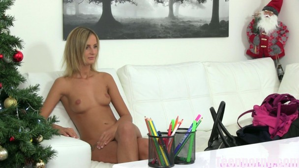 FemaleAgent Sexy lesbian Christmas casting Anna, Jenny 3gp mobil porn