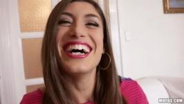 PublicPickUps Julia Roca Spanish Beauty Gives Messy Head