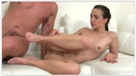 FakeAgent Kristy Black Petite babe loves cock inside her
