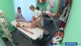 FakeHospital E209 Nikky Nurse watches as sexy couple fuck