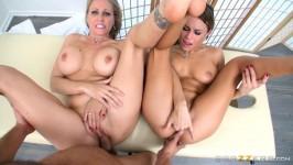 MomsInControl Julia Ann, Kendall Kayden Sharing A Massage
