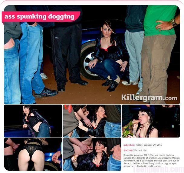 OnADoggingMission Chelsea Lee Ass Spunking Dogging