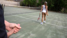 LatinaSexTapes Sara Luvv Latina's Tennis Lesson Gets Naughty