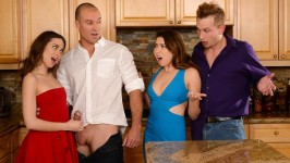 RealWifeStories Melissa Moore, Riley Reid Dinner For Sluts