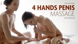HegreArt Julietta and Magdalena 4 Hands Penis Massage