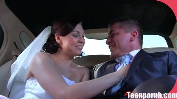 Ornella Morgan Stretch Limo Bride and groom pron