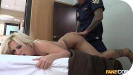 FakeCop Blondie Fesser Policeman fucks big booty latina