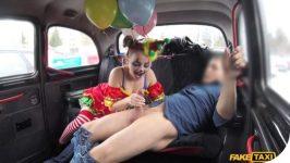 FakeTaxi Lady Bug Driver Fucks Cute Valentine Clown