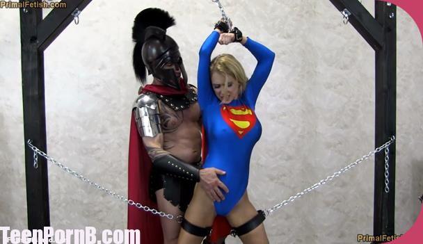 PrimalsDarkside Superheroine Alix Lynx Supergirl Falls to the God of War
