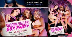 Jade Nile, Moka Mora, Zoey Monroe Silicon Valley Sex Party Virtual Reality