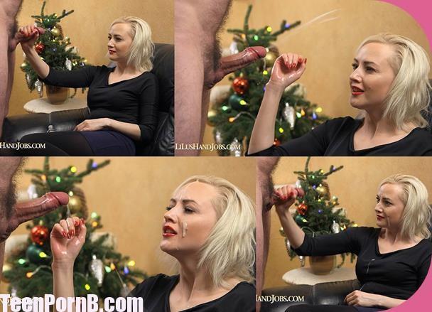 Lilu Teasing Torture near Xmas Tree Huge Ruined Facial