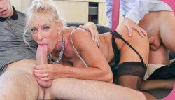 Porn Academie Marina Beaulieu Busty French mature Marina Beaulieu enjoys anal sex with DP in threesome