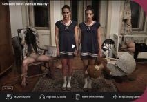 XVirtual Eveline Dellai, Silvie Dellai Schizoid twins Virtual Reality HorrorPorn