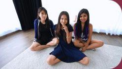 Emma, Tessa, Jade Three Teens Share Cum