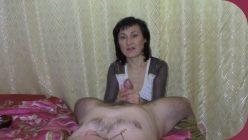 Clips4 Handjob by a beautiful mature woman