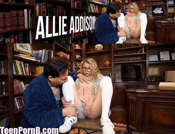 ExxxtraSmall Allie Addison Tiny Bookworm Blonde