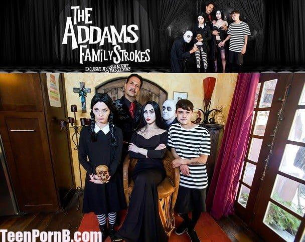 FamilyStrokes Audrey Noir, Kate Bloom Addams Family Orgy
